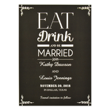 Eat Drink Be Married Personalized Save the Date