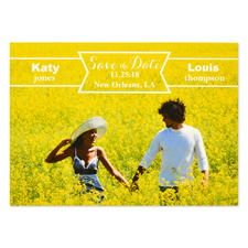 Flag the Date Personalized Save the Date