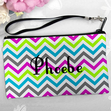 Personalized Colorful Chevron Pattern Clutch Bag (5.5X10 Inch)