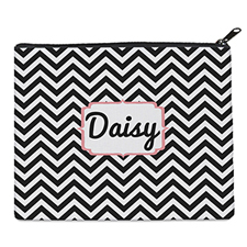 Print Your Own Black Chevron Bag (8 X 10 Inch)