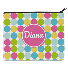 Print Your Own Pink Colorful Large Dots Bag (8 X 10 Inch)