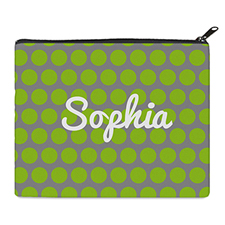 Print Your Own Lime Grey Large Dots Bag (8 X 10 Inch)
