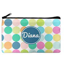 Custom Design Your Own Navy Colorful Large Dots Makeup Bag (5 X 8 Inch)