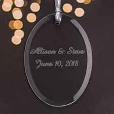 Personalized Laser Etched Our Big Day Glass Ornament