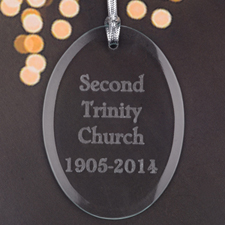 Personalized Laser Etched Custom Message Engrave Glass Ornament