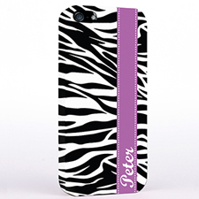 Personalized Zebra Print iPhone Case