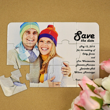 Personalized Ever Lasting Love Save The Date Puzzle Invite