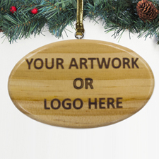 100% Custom Promotional Wood Ornaments