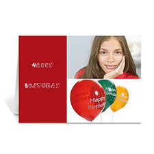 Personalized Elegant Collage Red Birthday Greetings Greeting Cards