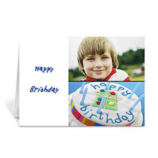 Personalized Elegant Collage White Birthday Greetings Greeting Cards