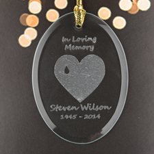 Forever With Us Personalized Glass Ornament