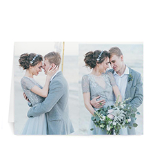 Personalized Classic Two Photo Collage Wedding Card