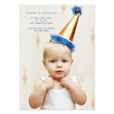 Personalized Full Photo Birthday Invitations, 5X7 Portrait Stationery Card