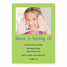 Personalized Lime Birthday Invitations, 5X7 Stationery Card