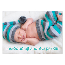 Personalized Full Photo Birth Announcements, 5X7 Stationery Card