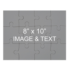 Custom 8 x 10 Magnetic Photo Puzzles, Landscape