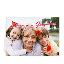 5x7 Folded Personalized Greeting Cards, I Love You Grandma