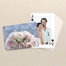 Wedding Poker Size Classic Custom 2 Sides Landscape Back