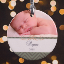Cheerful Sentiments Personalized Photo Porcelain Ornament