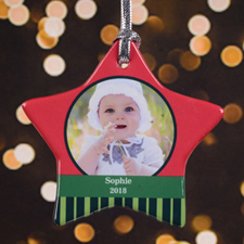 Personalized Special Sentiment Star Shaped Ornament