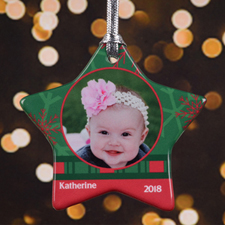 Personalized Shades Of Christmas Star Shaped Ornament