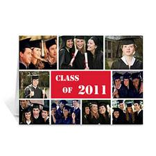 Custom Printed 2011 Graduate, Sporty Red Greeting Card