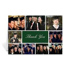 Custom Printed Graduate Green Greeting Card