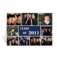 Custom Printed 2011 Graduate, Sporty Blue Greeting Card