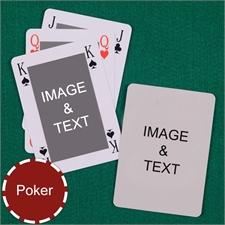 Poker Bridge Style Custom 2 Side Playing Cards
