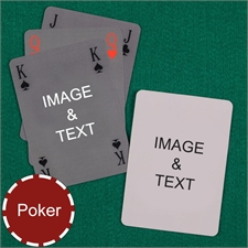Poker Simple Bridge Style Custom 2 Side Playing Cards