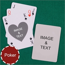 Poker Size Heart Bridge Style Custom 2 Sides Playing Cards