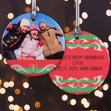 All Things Merry Personalized Photo Porcelain Ornament
