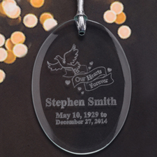 Personalized Laser Etched We Shall Meet Again Glass Ornament