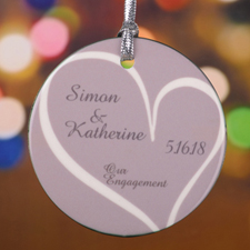 Personalized Our Engagement Round Porcelain Ornament