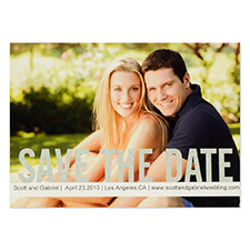 Personalized Silver Glitter Save The Day Save The Date Invitation Cards
