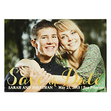 Personalized Gold Glitter Big Day Save The Date Invitation Cards