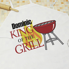 King Of The Grill Personalized Adult Apron