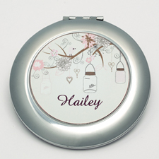 Personalized Madison Jar Round Make Up Mirror
