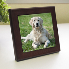 Custom Printed My Best Friend Wood Framed Ceramic Tile