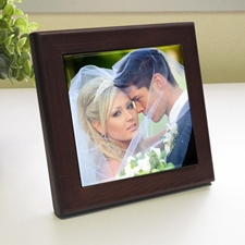 Custom Printed Big Day Wood Framed Ceramic Tile