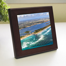 Custom Printed Photography Wood Framed Ceramic Tile