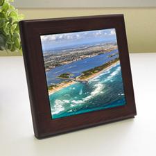Custom Printed Photography Wood Framed Ceramic Tile