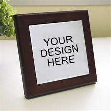 Custom Printed Your Design Here Wood Framed Ceramic Tile