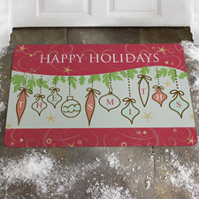 Create Your Own Spectacular Season, Happy Holidays Door Mat