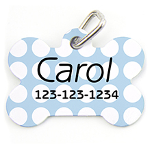 Aqua Dots, Bone Shape Personalized Dog Tag
