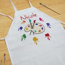 Little Painter Personalized Kids Apron