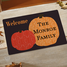 Create Your Own Welcome Pumpkins Door Mat