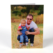 Custom Printed Portrait Father's Day Greeting Card