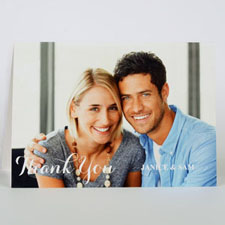 Custom Printed Landscape Folded Thank you Card