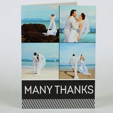 Custom Printed Many Thanks Greeting Card